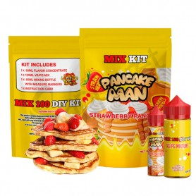Strawberry Pancakes 180ml Mix Kit - Pancake Man
