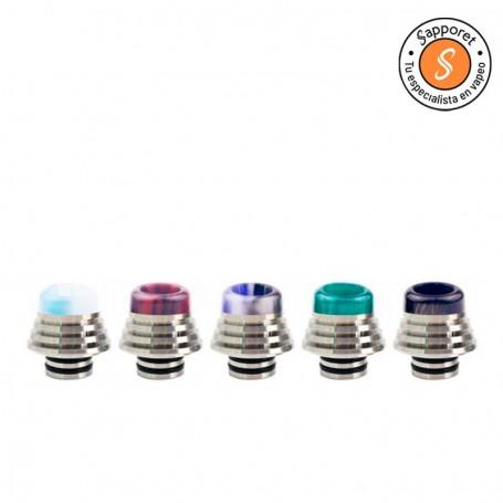 Drip tip 510 de acero inoxidable para utilizar en tus atomizadores favoritos, superior en resina para mayor comodidad