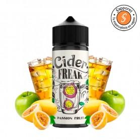 Sidra mezclada con deliciosa fruta de la pasión, para disfrutar de tu cigarrillo electrónico