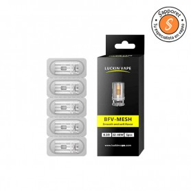 Resistencias comerciales de 0.3 Ohm tipo mesh compatibles con diferentes modelos de cigarrillo electrónico.