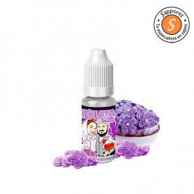 delicioso caramelo de violeta convertido en un líquido con sales de nicotina ideal para tu cigarrillo electrónico pod favorito.