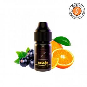 La mejor naranja de valencia convertida en zumo y mezclada con frescas grosellas.
