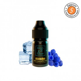 Delicioso aroma de vapeo con sabor a frambuesa azul con toque de frío