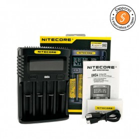 NITECORE - CARGADOR UMS4 para cargar las baterías en 55 minutos.
