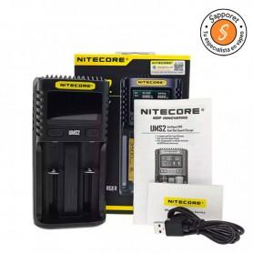 NITECORE - CARGADOR UMS2 para cargar tus baterías en 55 minutos