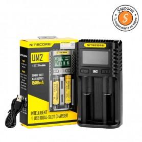NITECORE - CARGADOR UM2 cargador con una seguridad extra para tus pilas.