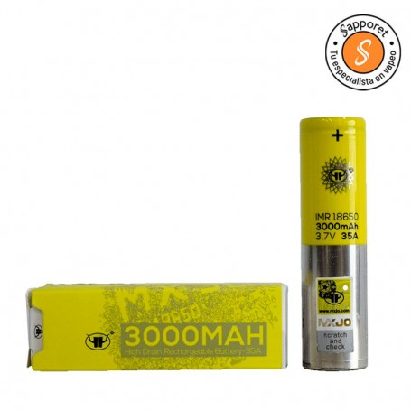 MXJO 18650 3000MAH 35A 3,7V una pila con buena calidad.