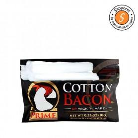 ALGODÓN - COTTON BACON PRIME DE WICK absorción muy rápida, tiene 10 gramos.