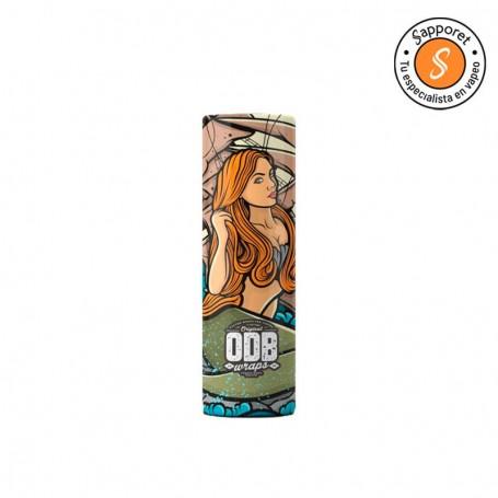 Perfecta funda con el diseño de una sirena de odb wraps, lo mejor para proteger y personalizar tus baterías