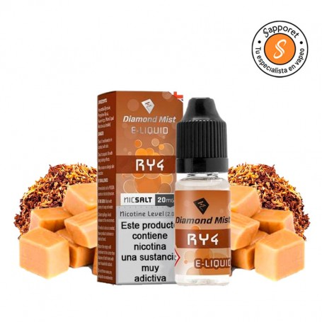 Diamond Mist - RY4 10ml - 20mg Nic Salt. Tabaco suave con caramelo