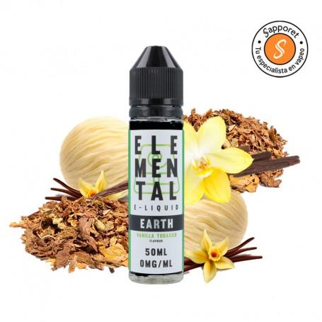 EARTH (VANILLA TOBACCO) 50ML - ELEMENTAL Deliciosa vainilla con toque de tabaco.