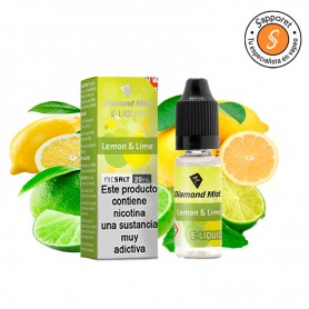 Diamond Mist – Lemon & Lime 10ml – 20mg Nic Salt, lima limón, sales de nicotina frutales.