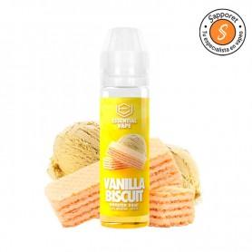 Vanilla Biscuit 50ml Essential Vape - Bombo. Delicioso barquillo con crema de vainilla de madagascar, delicioso.