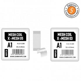 Resistencia Mesh (10pcs) - Damn Vape, pack de resistencias de malla.