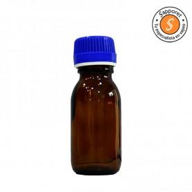 Bote de vidrio ambar 60ml, un utensilio para dejar mezclando el líquido con la base.