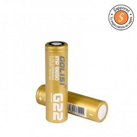 Batería 18650 ideal para utilizar en tus cigarrillo electrónicos. Golisi es una importante marca de baterías.