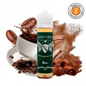 DON JUAN CAFÉ 50ML - KINGS CREST, un delicioso líquido para vapear de café con chocolate