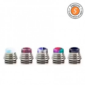drip tip 810 hibrido acero inoxidable y resina, ideal para tus atomizadores reparables favoritos