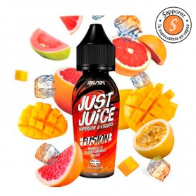 Fusion blood orange mango on ice es un líquido para vapear ideal para los amantes de las frutas con efecto frío