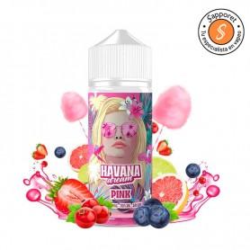 havana dream pink es un líquido de vapeo de fresa grosella y algodón de azucar ideal para vapear en cigarrillo electrónico.