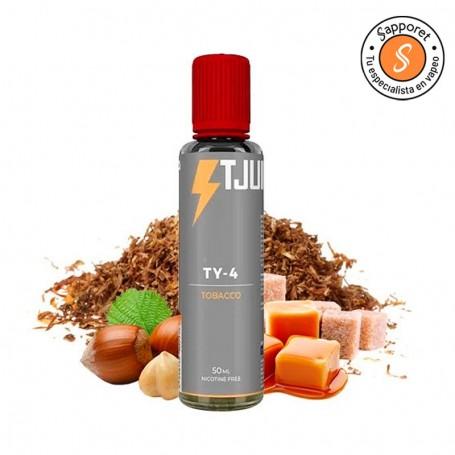 ty4 es un perfecto líquido para vapear tabaquil con caramelo para que disfrutes de una experiencia de vapeo única.