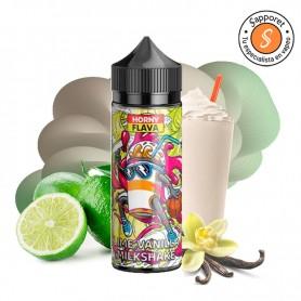 Lime Vainilla milkshake de horny flava te hará disfrutar del mejor batido con lima y vainilla en tu vapeo diario.