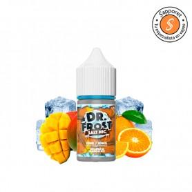 orange mango ice de dr frost es el líquido idóneo con sales de nicotina para disfrutar en tu dispositivo pod favorito.