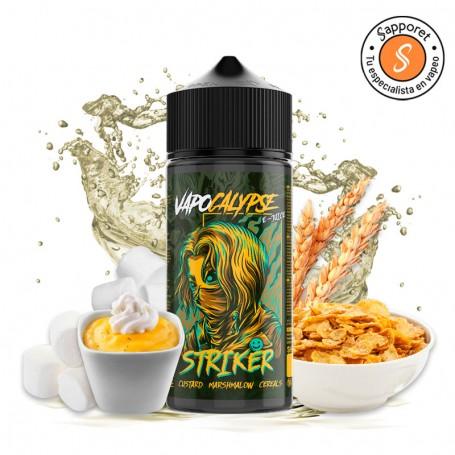 striker 100ml es un delicioso eliquid de natillas de vainilla con nubes y cereales. Disfrutalo en tu vapeo diario.