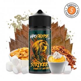 striker tobacco bastard es un tabaquil con vainilla natillas, nubes y cereales perfecto para tu vapeo diario.