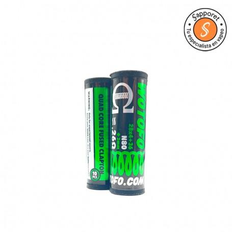 pre made quad core fused clapton de Wotofo es la resistencia perfecta para tus atomizadores reparables.
