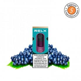 tangy purple es un fantástico sabor a uva fresca para disfrutar en tu relx pod.