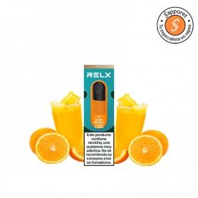 sunny sparkle es un fantástico refresco de naranja para disfrutar en tu vapeo diario gracias a relx