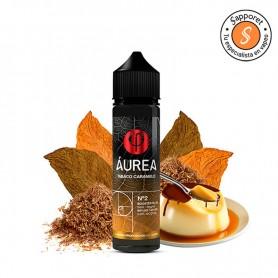 tabaco caramelo de aurea eliquid es la combinación perfecta de tabaco rubio con caramelo para una experiencia de vapeo única.
