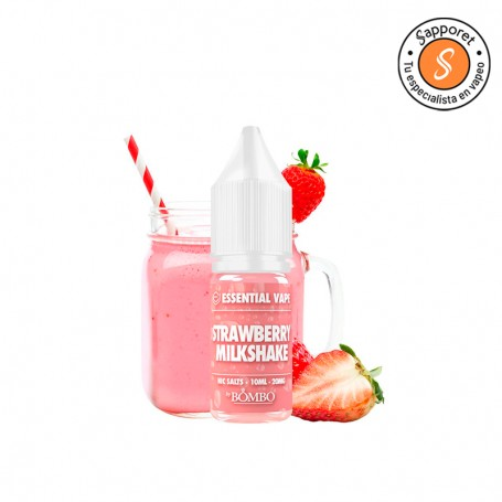 Strawberry Milkshake 10ml Essential Vape Salt - Bombo