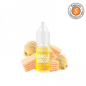 vanilla biscuit de bombo essential vape salt es un fantástico líquido para vapear con sales de nicotina de galleta de vainilla
