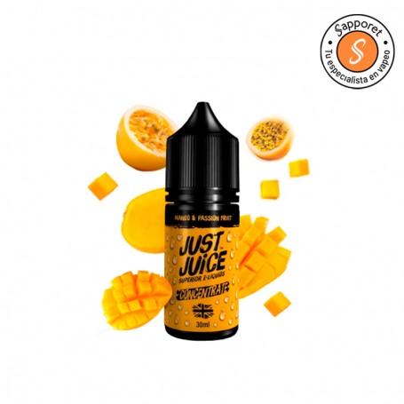 mango passion fruit es el sabor tropical por excelencia de Just Juice, ahora en tu alquimia de vapeo