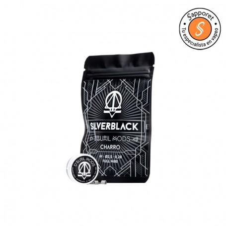 silver black de Charro Coils en colaboración con dburil mods presentan una resistencia artesanal ideal para tu vapeo diario