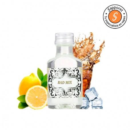 bad mix es un refrescante aroma de refresco de cola ideal para disfrutar en tu vapeo diario gracias a no bad vap