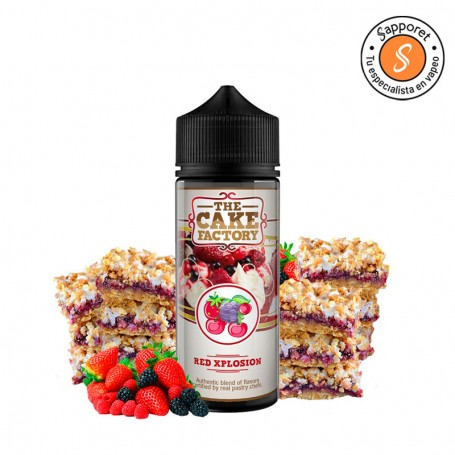 red explosion es una deliciosa tarta de bizcocho con mermelada de diferentes frutas, ideal para tu vapeo diario