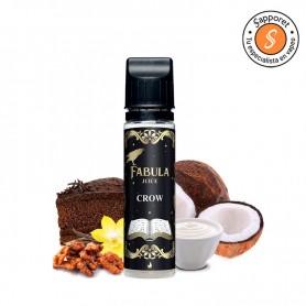 crow de fabula eliquid es el mejor líquido para vapear de tarta de chocolate de la mano de drops eliquid y su gama fabula