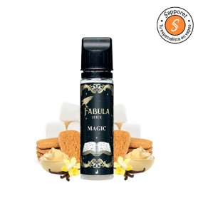 magic de fabula juice es un delicioso postre de galleta nube y vainilla para tu vapeo diario