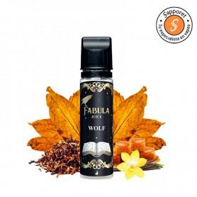 wolf es un tabaquil clásico con los mejores tabacos, caramelo y vainilla de fabula juice by drops eliquid