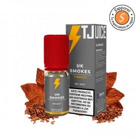 UK Smokes es una mezcla formidable de tabaquiles que te hará disfrutar de tu vapeo diario gracias a t Juice.