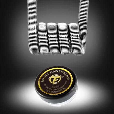 Fumytech - Resistencia prefabricada Staple Full N80 0,25O (2uds)
