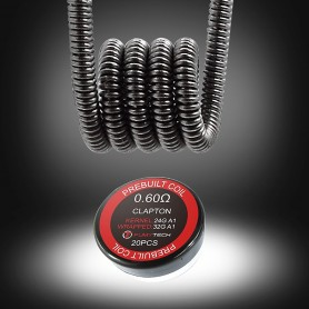 Fumytech - Resistencia prefabricada Clapton 0,60Ω 32AWG+24AWG (20uds)