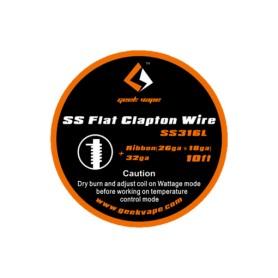 Geekvape - Hilo Flat Clapton de SS316L Ribbon (26ga-18ga)/ 32ga ~3m